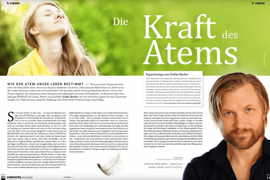 Presseartikel Die Kraft des Atems von Stefan Becker